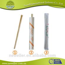 2014 Nature hot sell dark brown bamboo chopstick gold chopsticks