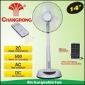 """Cr-8803a14"""" ราคาต่ำemegencyพลังงานแสงอาทิตย์พัดลมระบายอากาศ"""