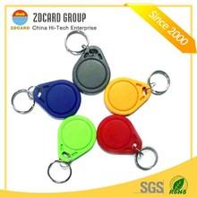 2014 RFID blank keys fobs/smart key tag/plastic key fob