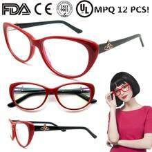 glasses frame french eyeglass acetate cateye latest for girls fashion wenzhou