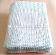 Hot sale 100% cotton waffle weave hospital blanket