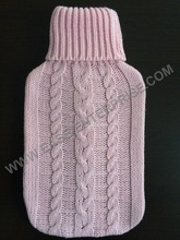 2000ml BS 1970:2012 Approved Hot Water Bottle with Knitted Cover
