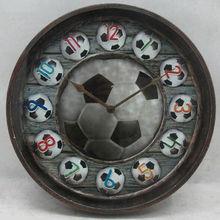 SIZE 36*36*4.5CM Round ball office metal art wall clock
