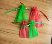 Most popular organza promotional Custom organza drawstring cosmetic bag