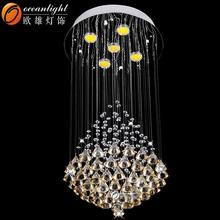 Intérieur led escalier éclairage suspendus intérieure lumière led lumière décorative OM88518-400W