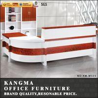 famous furniture designers melamine chipboards front desk counter