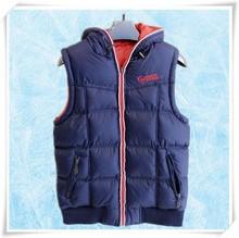 Latest custom nylon super soft vest jacket mens padded vest/double sided jacket for men