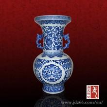 logo printed ceramic vase custom made flower vase from China
