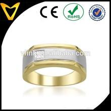 14k Two-Tone Gold Princess-cut Diamond Men's Wedding Band gold Ring (15 cttw, H-I, I1-I2)