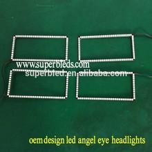 DC12-24V RGB color rectangle rings for GMC Sierra angel eyes led bulbs