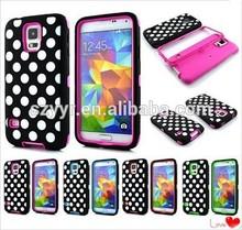 Samsung Compatible Brand Fashion Dot Mobile Phone Case for Samsung S5 i9600