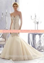 Vestido De Noiva Vintage Strapless Mermaid Wedding Dress 2015 Lace Sweetheart Wedding Dress Bride Dress Robe De Mariage J