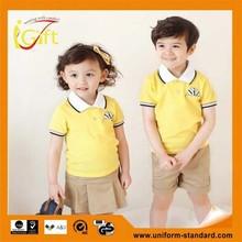 2015 newest 100% cotton casual spring summer uniform for kindergarten kids