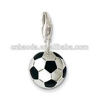 custom diamond football metal ball pendant