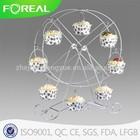 metal chrome plated ferris wheel 8 cups cake holder