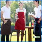 2014 new design high quality cotton christmas apron