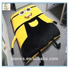 Factory wholesale despicable me minion bed set sleeping bag