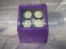 Hot! four rotors, top quality wooden watch winder case