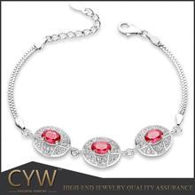 CYW high quality control 925 sterling silver charm bracelet jewelry