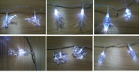 Transparent PVC decorative covers string light for Christmas tree decoration