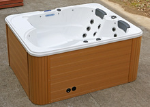 Factory price freestanding resin outdoor bathtub