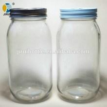 650ml empty glass jars with daisy cut caps