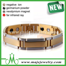 New 2015 gold plating magnetic iron anti-static bracelet