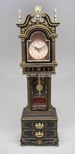 Unique gold +black colors antique table clock with music