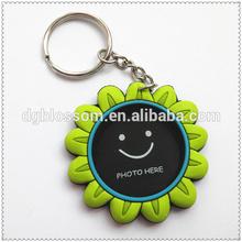 High Quality Eco-Friendly Soft pvc Photo frame key chain