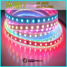 DC12V 72W 300LED 30IC IC TM1812 Dream Color SMD5050RGB IP67 LED Strip