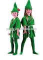 Pan- cara de terciopelo verde adultos traje de los niños de pedro pan conjunto family pack verde de peter pan disfraces