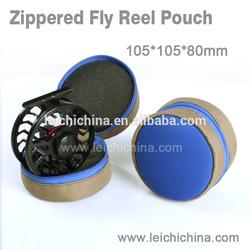 zip round neoprene fishing reel case