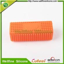 Pet massage tool soft silicone Dog slicker brush