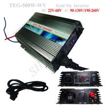 500W grid tie converter, grid connect solar inverter 500 watts, DC 22-60V to 90-130V/190-260Vsolar panel inverter