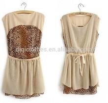 Usine prix léopard lady robe chine marque vêtements fabricant