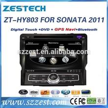ZESTECH OEM For Hyundai Sonata Car Audio Navigation system with Radio,Gps,BT,V-10disc,RDS,3G 2011 2012 2013