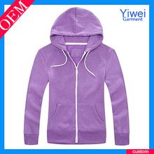 Custom Cheap Womens Hoodies Custom Made Purple Hoodies