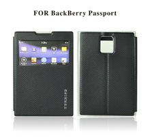 Ferrise hot sell china suppler high quality stand view and soft TPU leather flip case for blackberry passport