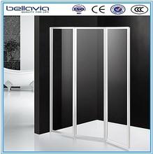 hot sale for Europe market folding Bath Shower Screens with frame shower enclosure tempered glass door