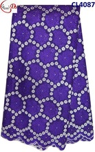 CL4087 purple+white high quality many color cotton cord lace,swiss lace fabric for evening dress