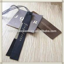 custom fashion clothes paper hang tag labels