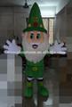 Ventas calientes verde de la navidad de papá noel de la mascota del traje para caminar precioso de la navidad verde de papá noel traje de la historieta