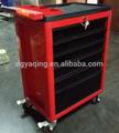 Rojo negro& esquinas redondas 6 cajón de almacenamiento de garaje gabinetes