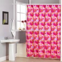 Heart Shape Polyester Fabric Bathroom Shower Curtain