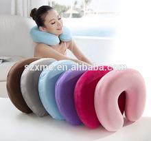 microbead pillow U shape spandex neck pillow
