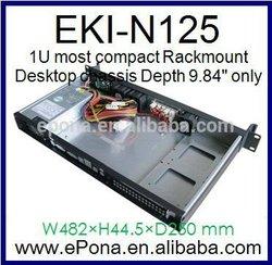 "1U most compact Rackmount / 1U case Depth 9.84"" only"