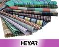 Venta al por mayor el diseño de verificación hilo algodón 100% teñidos camisas de tela