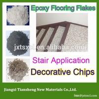 trendy personalized look Decorative vinyl Chips polymer floor