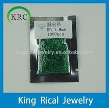 Nano Emerald Gems 1.8mm Round Brilliant Cut Semi-Precious Gemstone