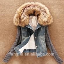 New design High quality detachable collar fur winter coat